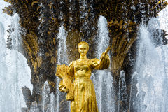 Peoples Friendship Fountain in All-Russia Exhibition Centre VDNKh, Moscow Stock Photography