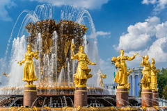 Peoples Friendship Fountain in Moscow Stock Images