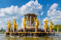 Peoples Friendship Fountain in Moscow Stock Photo