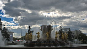 Peoples Friendship Fountain, Timelapse stock footage