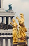 Peoples Friendship fountain at VDNKH park in Moscow. Royalty Free Stock Photo