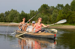 Free Peoples On Canoe Royalty Free Stock Photo - 2900715
