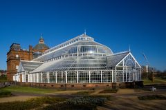 Peoples palace. The People's Palace greenhouse on glasgow Green royalty free stock images