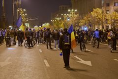 Bucharest protest, modifying the laws of justice Royalty Free Stock Photos