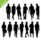 Peoples silhouettes vector Royalty Free Stock Images