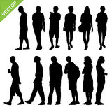 Peoples silhouettes vector Royalty Free Stock Photography