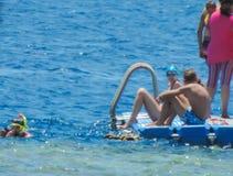 Peoples snorkeling Stock Image