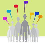 Peoples with speech bubbles Royalty Free Stock Photos