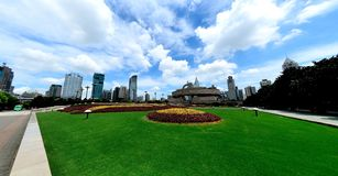 Peoples Square in Shanghai Royalty Free Stock Photos