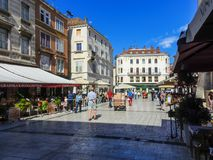 Peoples square or Narodni trg in Split. Peoples square Narodni trg or Pjaca in Split, Croatia Stock Images