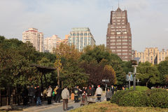 Peoples Square Park in Shanghai Stock Photos
