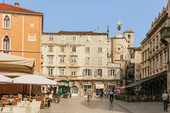 Peoples square . Split. Croatia Stock Photography