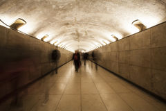 Peoples in underpass Royalty Free Stock Photos