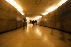 Peoples in underpass Royalty Free Stock Photo