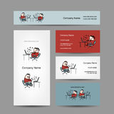 Peoples working at office, business cards for your Stock Images