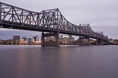 Peoria, IL. Bridge and Downtown view Stock Image