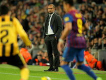 Pep Guardiola FC Barcelona coach Stock Photography