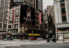 Pepe cajgów billboard, Manhattan, NYC Zdjęcia Stock
