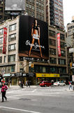 Pepe cajgów billboard, Manhattan, NYC Zdjęcie Royalty Free