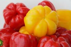 Pepe crudo rosso e giallo Fotografia Stock