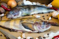 Pepe del limone dell'aglio delle cipolle delle patate del pesce di Grinling Fotografia Stock Libera da Diritti