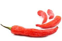 Pepe di peperoncini rossi rossi Immagini Stock