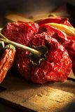 Pepe di peperoncini rossi rovente Fotografia Stock
