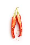 Pepe di peperoncini rossi rovente affettato Fotografia Stock Libera da Diritti