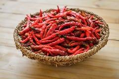 Pepe di peperoncini rossi rovente secco dei peperoncini rossi Fotografia Stock Libera da Diritti