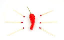 Pepe di peperoncino rosso ardente rovente Immagine Stock