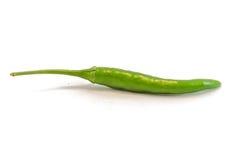 Pepe di peperoncino rosso caldo verde Immagine Stock