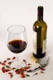 Pepe di peperoncino rosso e del vino Immagini Stock