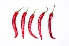 Pepe di peperoncino rosso rosso Immagini Stock Libere da Diritti