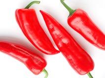 Pepe di peperoncino rosso rosso Fotografie Stock