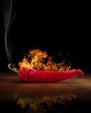 Pepe di peperoncino rosso rovente immagini stock