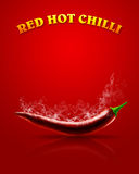 Pepe di peperoncino rosso rovente royalty illustrazione gratis