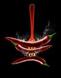 Pepe di peperoncino rosso rovente illustrazione di stock