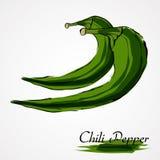 Pepe di peperoncino rosso verde Fotografia Stock