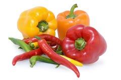 Pepe e peperoncini rossi Fotografia Stock