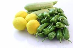 Pepe e zucchini del limone Fotografia Stock Libera da Diritti