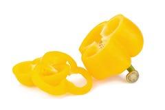 Pepe giallo dolce isolato su fondo bianco immagini stock libere da diritti