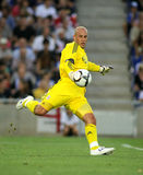 Pepe Reina. BARCELONA, SPAIN : Goalkeeper Pepe Reina of Liverpool FC in action during a friendly match against RCD Espanyol at the Estadi Cornella-El Prat on Stock Image