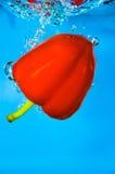 Pepe rosso - acqua di verdure Fotografia Stock Libera da Diritti