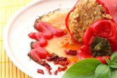 Pepe rosso farcito Fotografie Stock