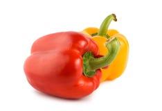 Pepe rosso giallo e Immagini Stock