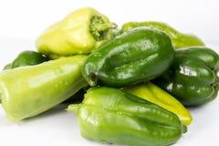 pepe verde su priorità bassa bianca Immagine Stock Libera da Diritti
