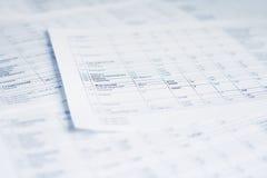 peper覆盖表 免版税库存图片