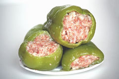Peper Bulgaar met vlees het vullen stock afbeelding