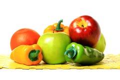 Peper en appelen Royalty-vrije Stock Foto's