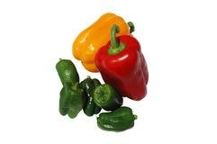 Peper en Paprika Royalty-vrije Stock Afbeeldingen